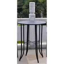 Tall Outdoor Table Iron Outdoor Half Moon Patio Table Walmart Com