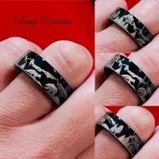 the bears wedding band damascus design tungsten wedding bands damascus ring custom made