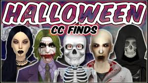 the sims 4 halloween cc finds u0026 costume ideas youtube