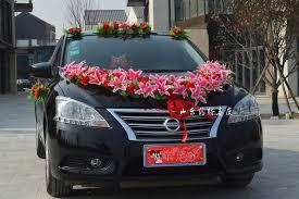 car decorations hot sale artificial flowers wedding car decoration set in