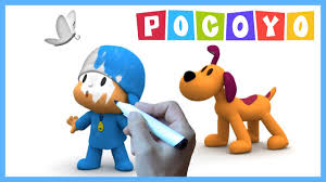 pocoyo coloring pages kids loula dog butterfly u0026 pocoyo