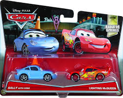 cars 3 sally disney pixar cars movie moments 2 pack sally with cone lightning