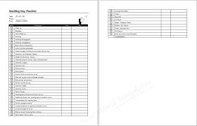 wedding planner wedding checklist microsoft word