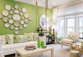 White Furniture Decorating Living Room Green Living Room Ideas
