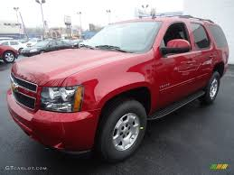 crystal red tintcoat 2012 chevrolet tahoe ls 4x4 exterior photo