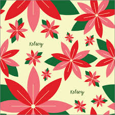 pretty wrapping paper pretty poinsettia personalized wrapping paper pricing options