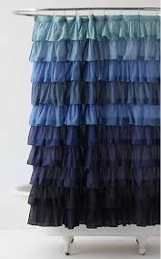 Anthropologie Ruffle Shower Curtain Ombre Decor Ideas For Your Home