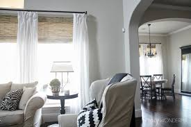 Roman Shades Over Wood Blinds Bamboo Roman Shades Crazy Wonderful
