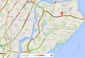 Staten Island Map Traffic Toward Goethals Bridge Blocked After New Jersey Turnpike