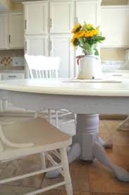 Farm Style Dining Room Sets - chalk paint dining table makeover little vintage nest