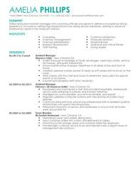 Resume Sample For Assistant Manager by Sample Resume Of Restaurant Manager Law Office Receptionist Sample