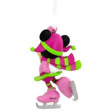 disney minnie mouse skating ornament
