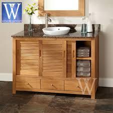 Teak Bathroom Storage Terrific Bathroom Furniture Teak Oak And Mahogany Vanities At
