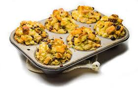 bread butter sage and cranberry stuffing or muffings