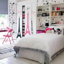 white teenage bedrooms slping wall ceiling wooden floor tween room