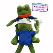 Funny Frog Meme - 18 pepe the frog sad frog plush 4chan kekistan meme toy stuffed