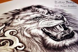 lion tattoo design project blog posts from dark design graphics