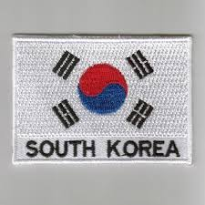 South Korea Flag South Korea Embroidered Patches Country Flag South Korea Patches