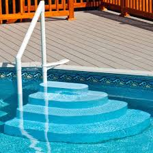 wedding cake pool steps wedding cake steps for above ground pool 5005 ne100bl