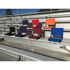 Cushioned Bleacher Seats With Backs Cascade Mountain Tech Stadium Seat Walmart Com