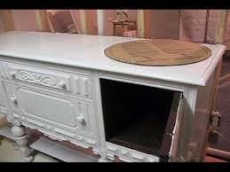 antique sideboard turned into bathroom vanity 1st vid wmv youtube