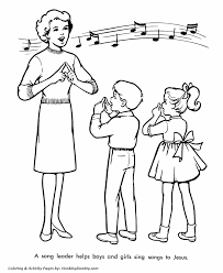 church coloring pages children sing easter songs honkingdonkey