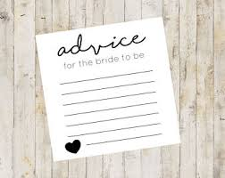 Advice Cards For Bride Advice For The Bride Cards Bridal Shower Advice Cards