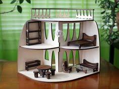 Modern Dollhouse Furniture Sets by Sustainable Mid Century Modern Dollhouse And Matching Furniture In