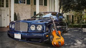 custom bentley azure jonathan kellerman pairs curvaceous cars with classic guitars