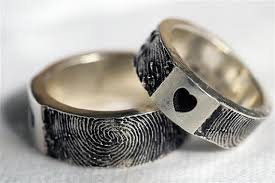 fingerprint wedding bands custom fingerprint ring wedding band personalized sterling