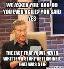 Agile Meme - asked you bro do you even agile you said yes