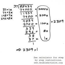 teaching long division and double division