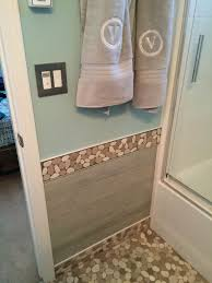sliced java tan and white bathroom border subway tile outlet