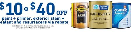 Shop Exterior Stains At Lowes Com by Lowe U0027s Paint Exterior Stain Resurfacer Rebates 10 1 Gal
