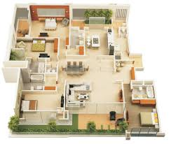 Single Story 4 Bedroom House Plans Small 4 Bedroom Home Plans