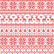 christmas pattern illustrated traditional nordic pattern royalty free cliparts