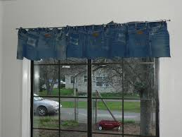 Denim Curtain Blue Denim Jean Curtains That Cover A 4 1 2 Foot Window For The