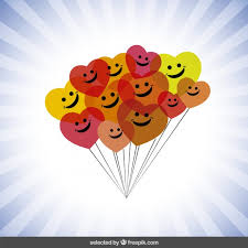 colorful happy balloons vector free
