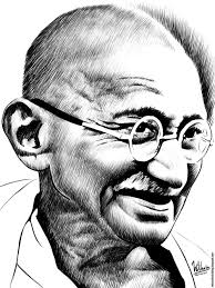 pencil sketches of mahatma gandhi drawing sketch picture