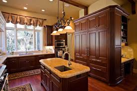 Kitchen Island Ideas Pinterest Hickory Floors Cherry Cabinets Home Ideas Pinterest Cherry
