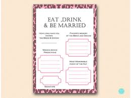 advice for the and groom cards wishes for the and groom advice card favorite memory pink
