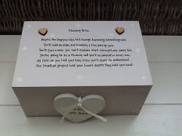 in memory of gifts personalised personalised chic mummy to be large memory box gift