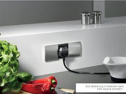 einbausteckdose küche bachmann tischanschlussfeld due steckdoseneinheit küche