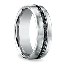 fields wedding rings channel black diamond men s wedding ring in platinum