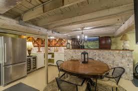 interior basement recreational room media room laundry room
