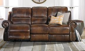 Recline Sofa by Top Grain Leather Dual Power Reclining Sofa Haynes Furniture