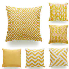 mustard home decor throw pillow case mustard yellow fabric cotton linen cushion cover