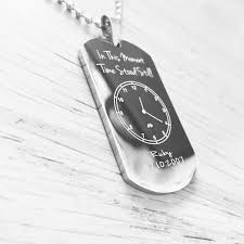 engraved dog tag necklace the moment time stood still engraved dog tag necklace