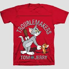 boys u0027 tom jerry short sleeve shirt red xl target