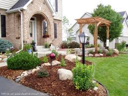 Front Landscaping Ideas by Front Yard Landscaping Walkway Landscaping Yards Stone Deck House